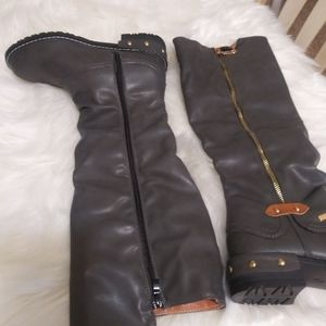 NEW! Kids Gray HKR Knee Boots size 35 (2.5).